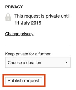 Publish a request