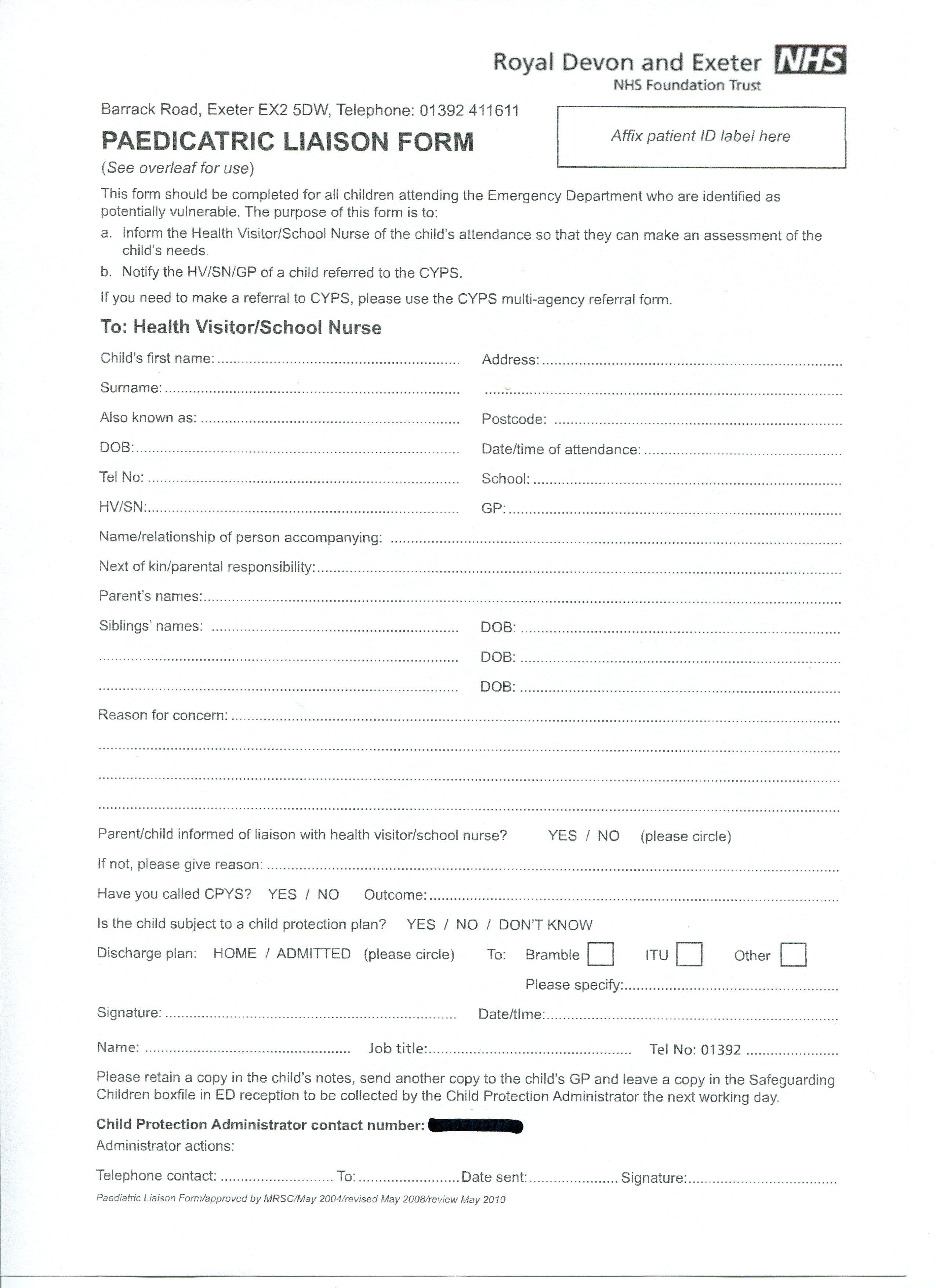 nhs self certification form download uk